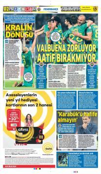 Günün Fenerbahçe Manşetleri (15 Aralık)
