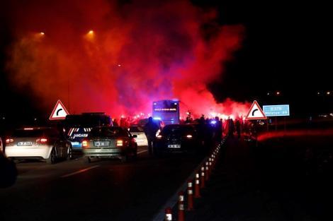 Galatasaray, Malatya'da coşkuyla karşılandı
