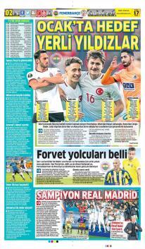 Fenerbahçe gazete manşetleri - 17 Aralık