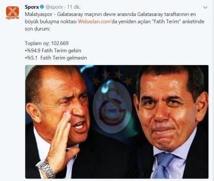 Galatasaray taraftarının Terim istediğini gösteren 15 mesaj