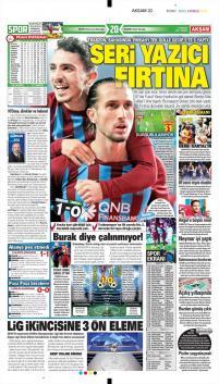 Trabzonspor gazete manşetleri - 17 Aralık