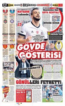 Günün Beşiktaş Manşetleri (18 Aralık)