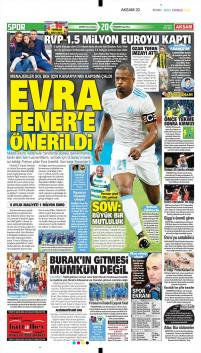 Fenerbahçe gazete manşetleri - 16 Ocak