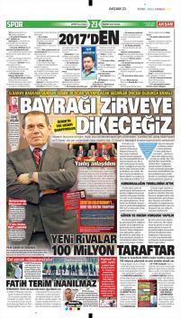 Galatasaray gazete manşetleri - 17 Ocak