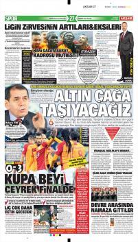 Galatasaray gazete manşetleri - 19 Ocak