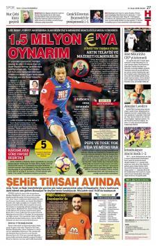 Beşiktaş gazete manşetleri - 21 Ocak