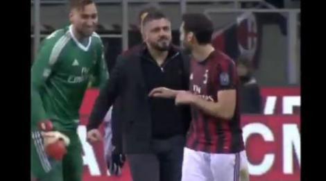 Gattuso, Hakan Çalhanoğlu'nun üzerine yürüdü