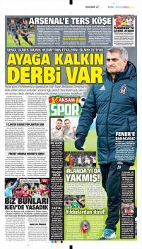 Beşiktaş gazete manşetleri - 22 Şubat