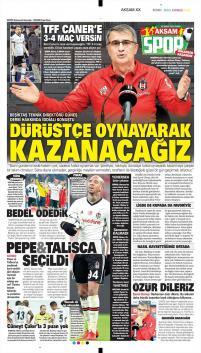 Beşiktaş gazete manşetleri - 23 Şubat
