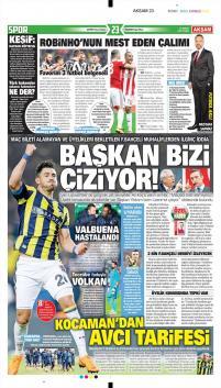 Fenerbahçe gazete manşetleri - 23 Şubat