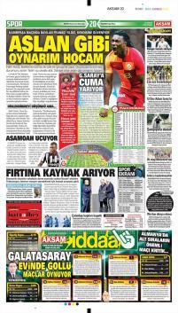 Galatasaray gazete manşetleri - 23 Şubat