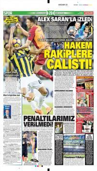 Fenerbahçe gazete manşetleri - 18 Mart