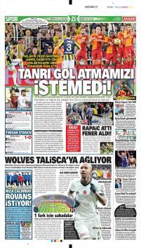 Galatasaray gazete manşetleri - 18 Mart