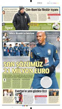 Beşiktaş gazete manşetleri - 23 Mart