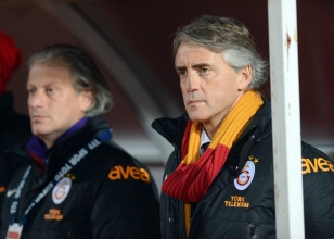 Galatasaray Teknik Direkt�r� Roberto Mancini.