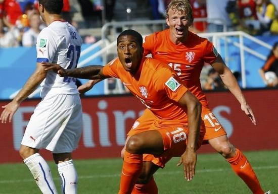 Hollanda 2-0 Şili Maçı Geniş Özeti ve Golleri - Dünya Kupası