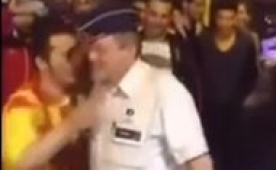 Bel�ika polisinin Galatasaray co�kusu!