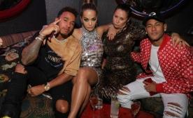 Neymar, Hamilton ile Londra'da partide!..
