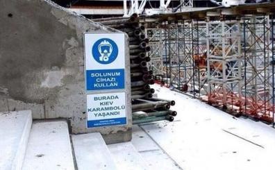 Arena'da ilgin� uyar�! Solunum cihaz� ve Kiev karambol�...
