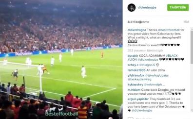 Didier Drogba, Galatasaray taraftar�n� aya�a kald�rd� ve...
