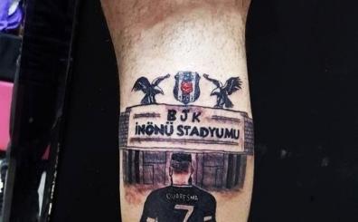 İnönü Stadı ve Quaresma'yı bacağına dövme yaptırdı!..