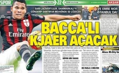 Türk spor basınında yer alan günün tam 50 gazete manşeti...
