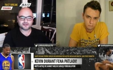 Ahmet Melik Subaşı ve Mete Aktaş, Durant'in Twitter olayını konuştu