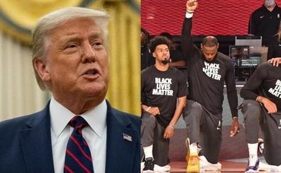 Trump: 'Ulusal marş sırasında diz çökme eylemi, cidden utanç verici'