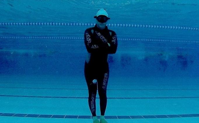 Rekortmen sporcu şehitler için 'nefesini' tutacak