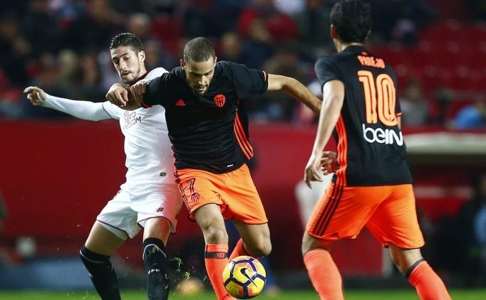 Sevilla, Valencia'yı zorlansa da geçti!