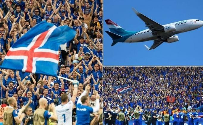İzlandalı taraftar, İngiltere maçını izleyebilmek için uçak kiraladı