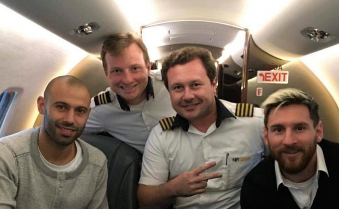 Messi de düşen o uçak ile yolculuk etmişti!
