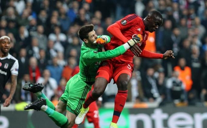 Beşiktaş-Lyon maçında Fabri'nin kurtarışına sosyal medya tepkiler