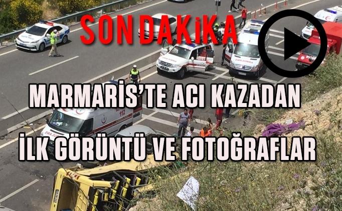 Flaş! Marmaris kazası fotoğrafları ve olayın videosu!