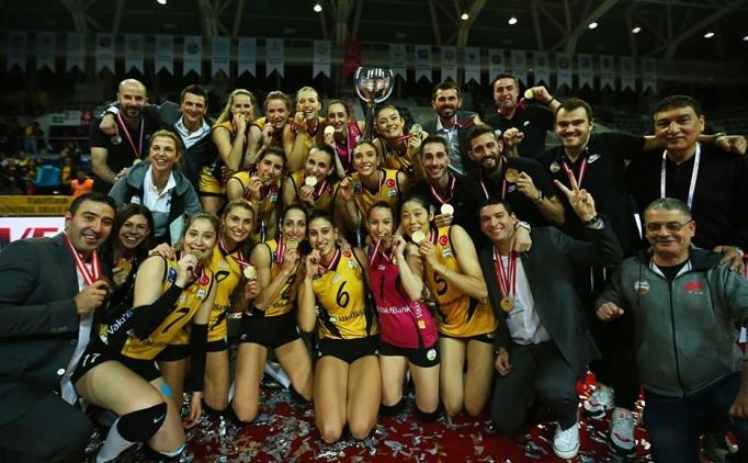 Kadınlar Kupa Voley'de şampiyon Vakıfbank!