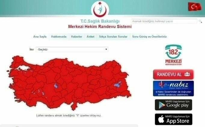 ALO 182   Online MHRS Hastane Randevusu alma, MHRS giriş
