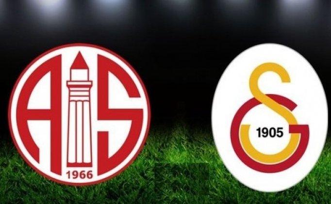 Galatasaray evinde Antalyaspor'u konuk ediyor