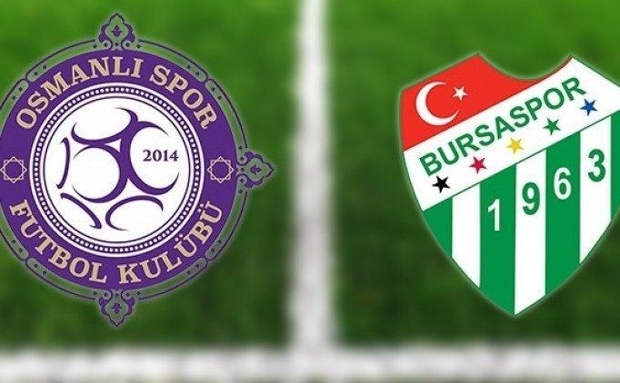 Osmanlıspor Bursaspor MAÇI CANLI hangi kanalda saat kaçta?