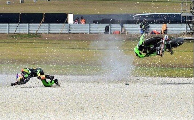 Kenan Sofuoğlu kaza yaptı! İşte kaza görüntüleri!
