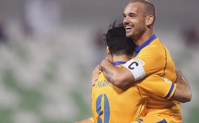 Wesley Sneijder Katar'da kendine geldi
