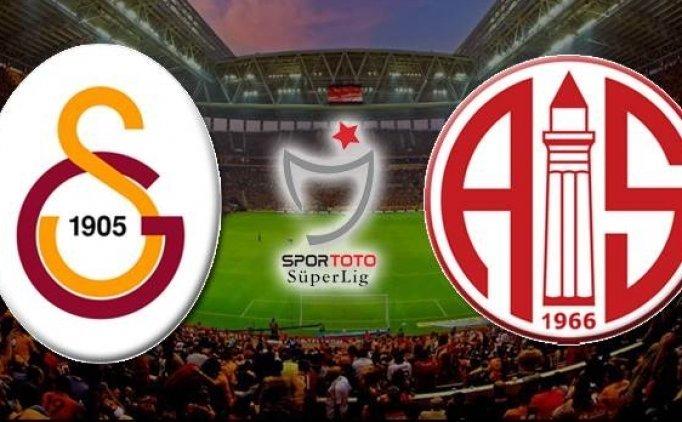 Galatasaray muhtemel 11'i   Galatasaray Antalyaspor maçı saat kaçta?