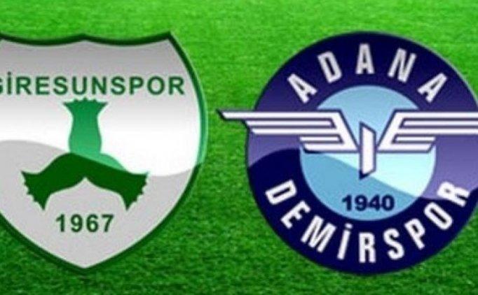 Giresunspor Adana Demirspor maçı canlı hangi kanalda saat kaçta?