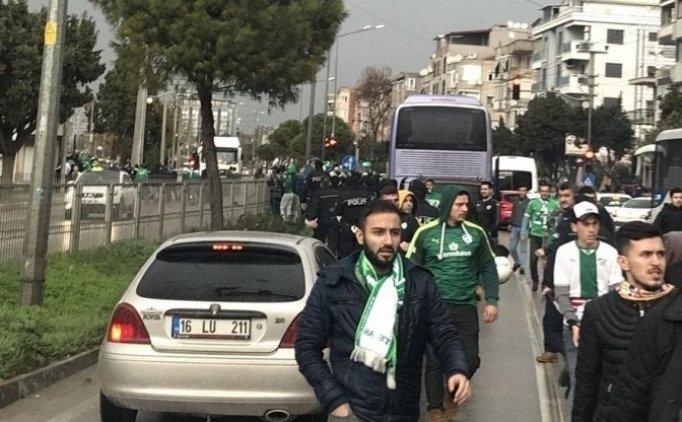 Bursaspor ve Akhisar taraftarları barıştı