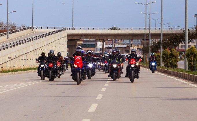 Motorculardan Zeytin Dalı Harekatı'na destek
