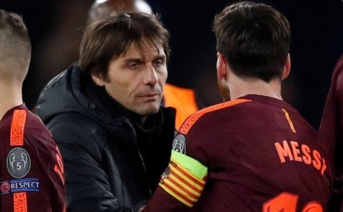 Conte'den Messi sözleri: ''Süper, sıra dışı...''