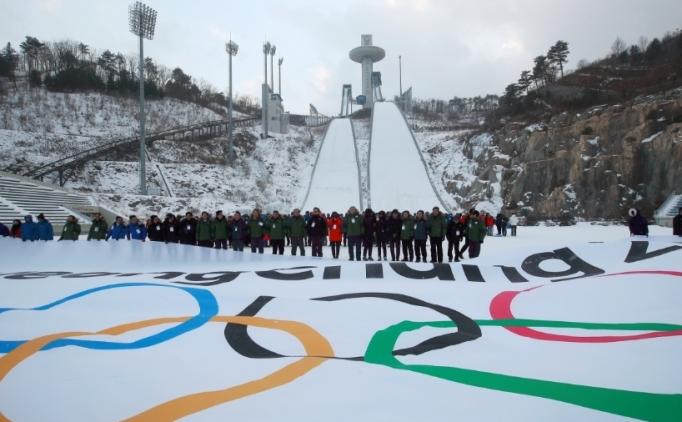 Kuzey Koreli ve Güney Koreli atletler birlikte!