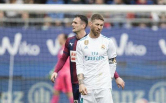 Ramos'un büyük tuvaleti geldi, maçı bıraktı ve tuvalete gitti!