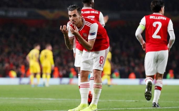 Arsenal'in yedekleri, Standard Liege'e fark attı!