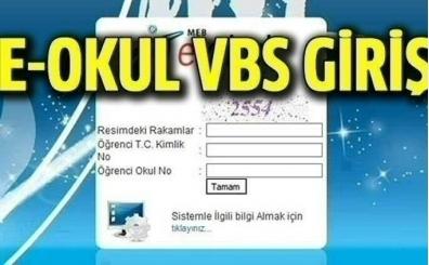 VBS giriş Bilgi; e-okul sınav sonuçları ve online veli bilgilendirme sistemi!