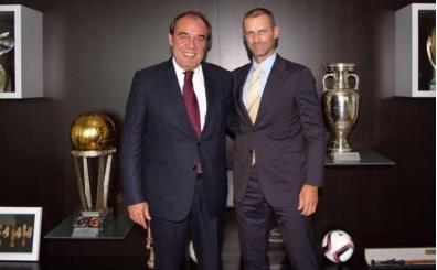 Yıldırım Demirören'den UEFA Başkanı Ceferin'e ziyaret